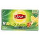 Lipton Decaffeinated Honey Lemon Green Tea - Case of 6 - 20 CT