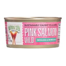 Natural Sea Wild Pink Salmon - Salted - Skinless & Boneless - Case of 12 - 6 oz.