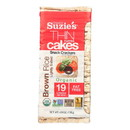 Suzie's Thin Cakes - Brown Rice Lightly Salted - Case of 12 - 4.9 oz.