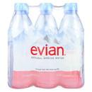 Evians Spring Water Natural Spring Water - Case of 4 - 16.9 FL oz.