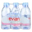 Evians Spring Water Spring Water - Natural - Case of 4 - 6/11.2fl oz