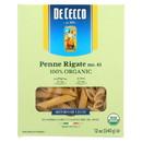De Cecco Pasta - Organic - Penne Rigate - Case of 12 - 12 oz