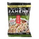 Koyo Ramen - Reduced Sodium Garlic Pepper - Case of 12 - 2.1 oz.