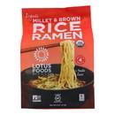 Lotus Foods Ramen - Organic - Millet and Brown Rice - 4 Ramen Cakes - 10 oz - case of 6