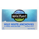 Wild Planet White Anchovies - in Water - Case of 12 - 4.4 oz