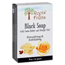 Roots and Fruits Bar Soap - Black Soap - Cocoa Butter and Orange Peel - 5 oz