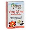 Roots and Fruits Bar Soap - African Red Soap - Shea Butter - 5 oz