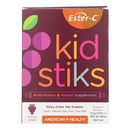 American Health - Ester-C - Kid Stiks - Groovy Grape - 30 Packets