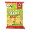 Good Health Kettle Chips - Avocado Oil Jalapeno - Case of 12 - 5 oz.