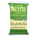 Kettle Brand Potato Chips - Jalapeno - Case of 15 - 5 oz.