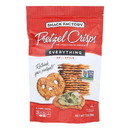 Pretzel Crisp Pretzel Crisps - Everything - Case of 12 - 7.2 oz.