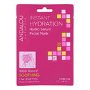 andalou Naturals Instant Hydration Facial Mask - 1000 Roses Soothing - Case of 6 - 0.6 fl oz