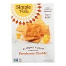 Simple Mills Farmhouse Cheddar Almond Flour Crackers - Case of 6 - 4.25 oz.