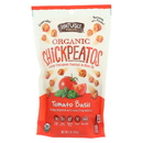 Watusee Foods Organic Chickpeas - Tomato Basil - Case of 12 - 5 oz
