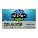 Wild Planet Wild Sardines - Skinless Boneless Fillets in Olive Oil - Case of 12 - 4.25 oz