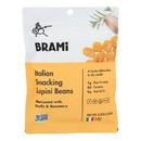 Brami Lupini Snack - Garlic and Herb - Case of 8 - 5.3 oz.