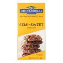 Ghirardelli Baking Bar - Semi-Sweet Chocolate - Case of 12 - 4 oz.