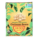 Jack's Quality Organic Garbanzo Beans - Low Sodium - Case of 8 - 13.4 oz