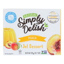Simply Delish Jel Dessert - Peach - Case of 6 - 1.6 oz.