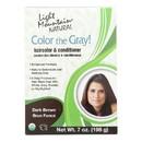 Light Mountain Hair Color - Color The Gray Dark Brown - Case of 1 - 7 oz.