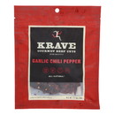 Krave Beef Jerky - Garlic Chili Pepper - Case of 8 - 2.7 oz
