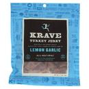Krave Turkey Jerky - Lemon Garlic - Case of 8 - 2.7 oz
