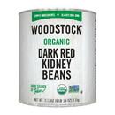 Woodstock Organic Dark Red Kidney Beans - Case of 6 - 111 OZ