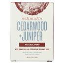 Schmidt's Deodorant Soap Bar - Cedarwood & Juniper - Case of 6 - 5 oz