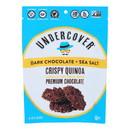 Undercover Quinoa Dark Chocolate + Sea Salt Crispy Quinoa Snack - Case of 12 - 2 oz