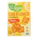 From The Ground Up - Cauliflower Crackers - Nacho - Case of 6 - 4 oz.