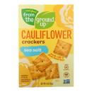 From The Ground Up - Cauliflower Crackers - Original - Case of 6 - 4 oz.
