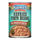 Kuner Refried Pinto Beans - Case of 12 - 16 oz