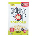 Skinnypop Popcorn - Popcorn Micro Sea Salt 3pk - Case of 12 - 3/2.8 oz