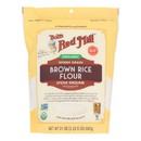 Bob's Red Mill - Flour Rice Brown - Case of 4 - 24 oz