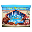 Blue Diamond Low Sodium Lightly Salted Almonds - Case of 12 - 6 oz