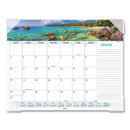 AT-A-GLANCE 89803 Seascape Panoramic Desk Pad, 22 x 17, 2021