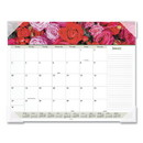 AT-A-GLANCE 89805 Floral Panoramic Desk Pad, 22 x 17, Floral, 2021