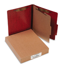 ACCO BRANDS ACC15004 20-Pt Presstex Classification Folders, Letter, 4-Section, Red, 10/box