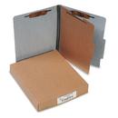 ACCO BRANDS ACC15014 20-Pt Presstex Classification Folders, Letter, 4-Section, Gray, 10/box