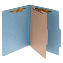 ACCO BRANDS ACC15024 Pressboard 25-Pt Classification Folders, Letter, 4-Section, Sky Blue, 10/box