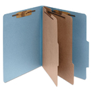 ACCO BRANDS ACC15026 Pressboard 25-Pt Classification Folders, Letter, 6-Section, Sky Blue, 10/box