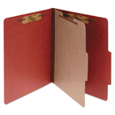 ACCO BRANDS ACC15034 Pressboard 25-Pt Classification Folders, Letter, 4-Section, Earth Red, 10/box