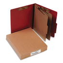 ACCO BRANDS ACC15036 Pressboard 25-Pt Classification Folders, Letter, 6-Section, Earth Red, 10/box