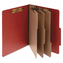 ACCO BRANDS ACC15038 Pressboard 20-Pt Classification Folders, Letter, 8-Section, Earth Red, 10/box
