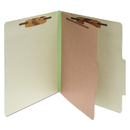 ACCO BRANDS ACC15044 Pressboard 25-Pt Classification Folders, Letter, 4-Section, Leaf Green, 10/box