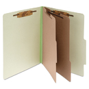 ACCO BRANDS ACC15046 Pressboard 25-Pt Classification Folders, Letter, 6-Section, Leaf Green, 10/box
