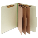ACCO BRANDS ACC15048 Pressboard 25-Pt Classification Folders, Letter, 8-Section, Leaf Green, 10/box