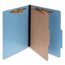 ACCO BRANDS ACC15642 Colorlife Presstex Classification Folders, Letter, 4-Section, Light Blue, 10/box