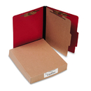 ACCO BRANDS ACC15649 Colorlife Presstex Classification Folders, Letter, 4-Section, Exec Red, 10/box