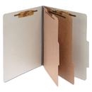 Acco Brands ACC16056 Pressboard 25-Pt Classification Folders, Legal, 6-Section, Mist Gray, 10/box
